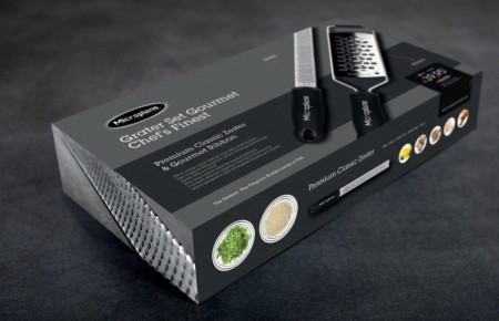 Microplane Geschenkset: Premium Zester (46020) + mittelgrobe Gourmet Reibe (45002)