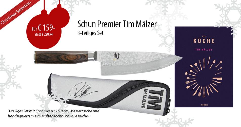 KAI Shun Premier Tim Mälzer kleines Kochmesser + Messertasche + signiertes Kochbuch (TDM1723-W16)