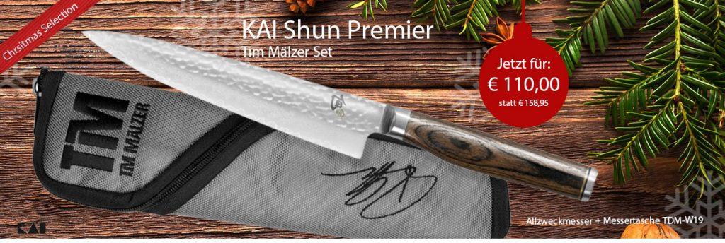 KAI Shun Premier Tim Mälzer Set Allzweckmesser + Messertasche TDM-W19